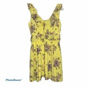 GBX dress yellow purple floral NWT small